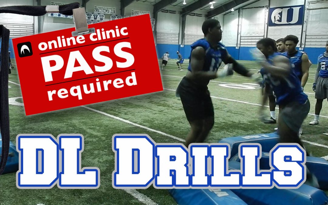 Practice Footage: U of Dubuque DL Footwork