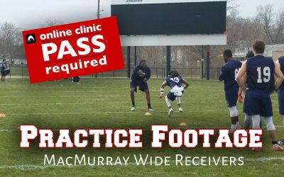 Practice Footage: MacMurray Wide Receivers
